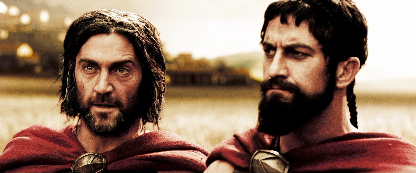 Captain Artemis & King Leonidas - 300 - (Vincent Regan & Gerard Butler ... David Wenham