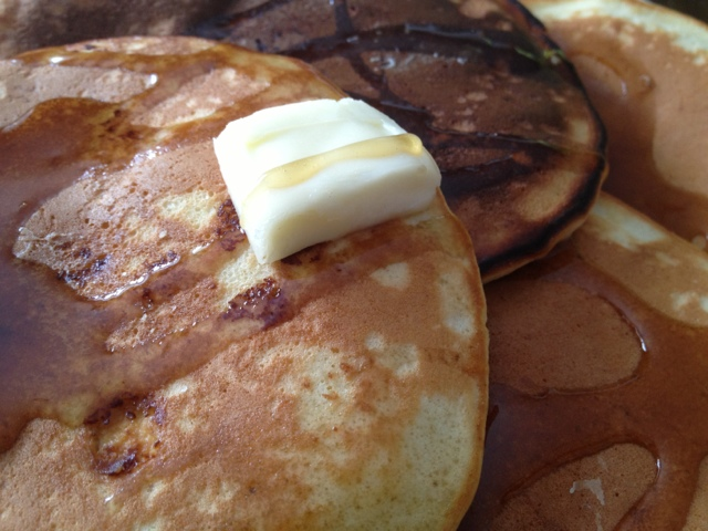 Eggs, eggnog pancakes, cook, breakfast, syrup, butter, Homemade, DIY,