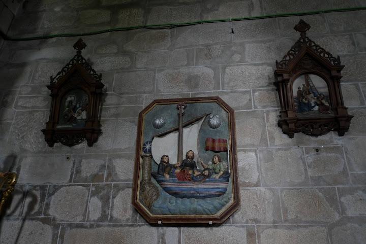 Łódź ze zwłokami św. Apostoła w miasteczku Padron