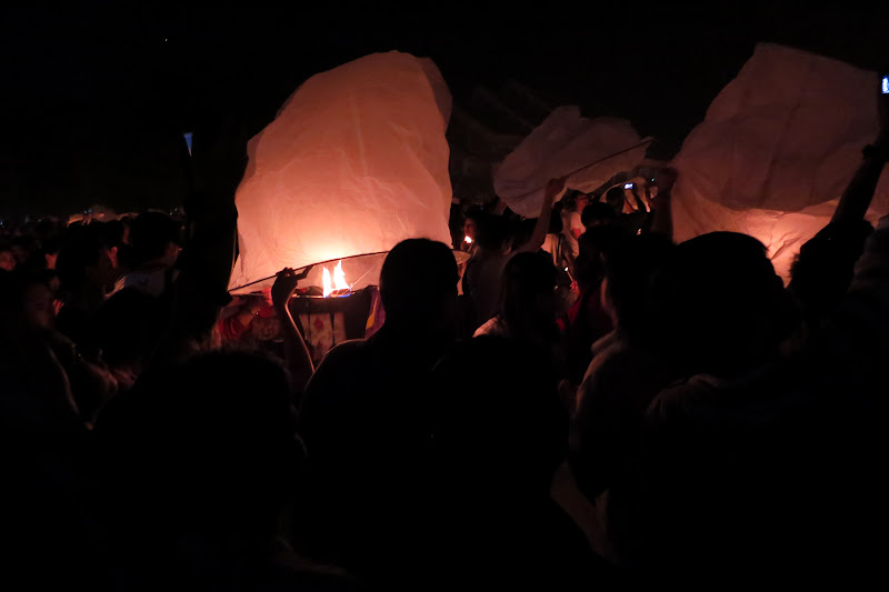 Begin to light the lanterns