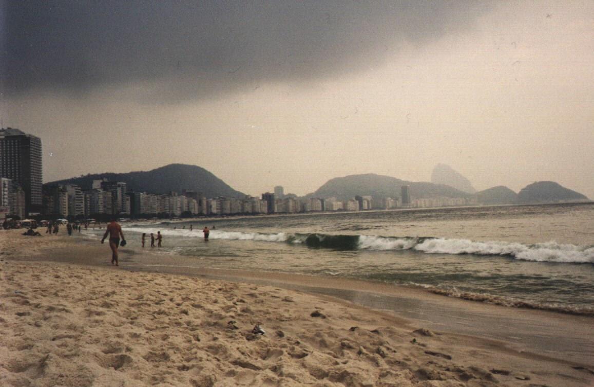 Trübes wetter an der Copacabana