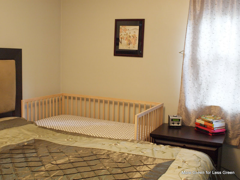 More Green For Less Green Crib Part 3 Turn A Crib Into A Side Car Co Sleeper