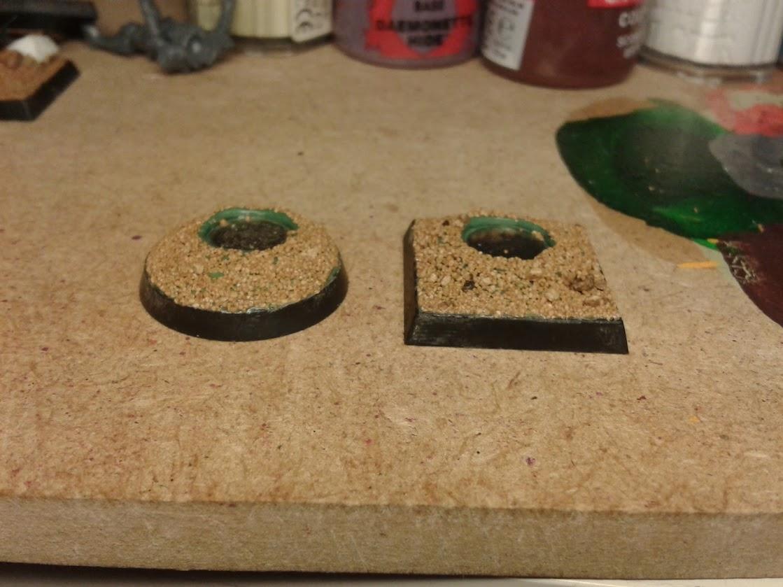 Sanded magnetic bases