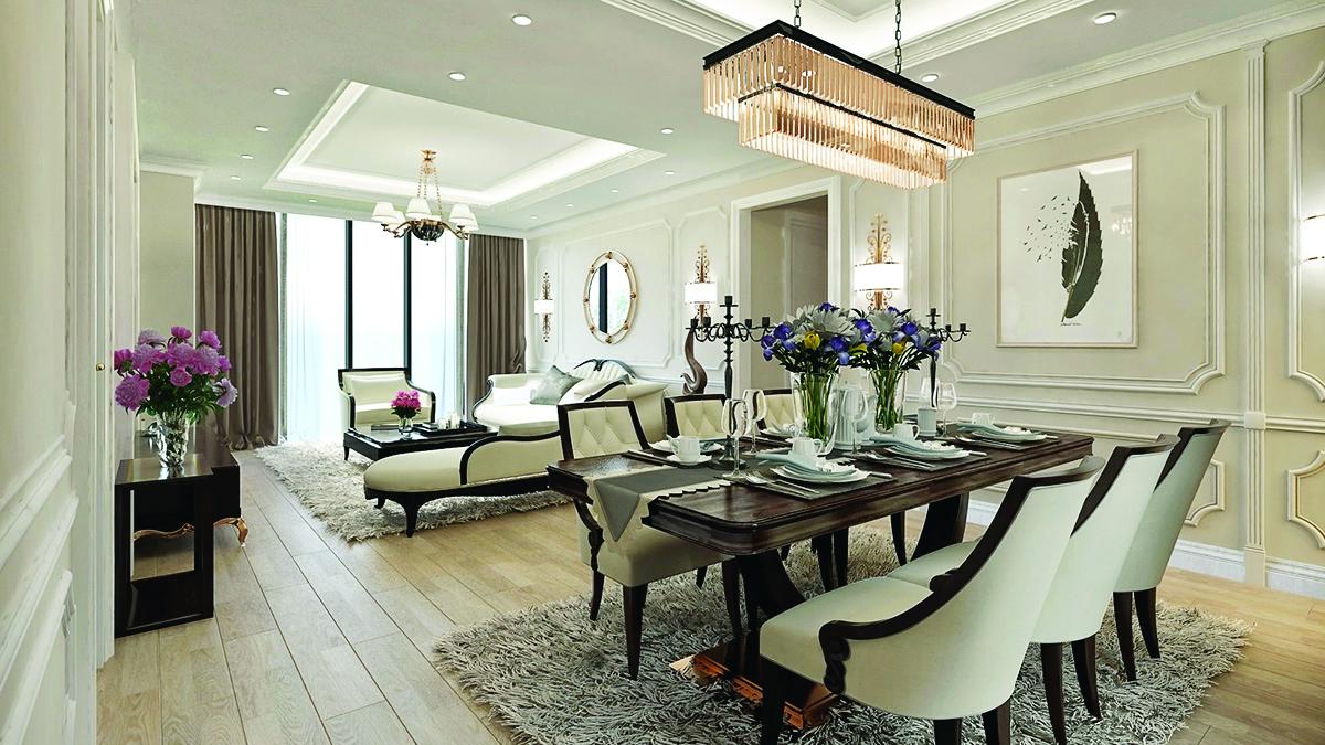 Thiết kế căn hộ ấn tượng tại King Palace