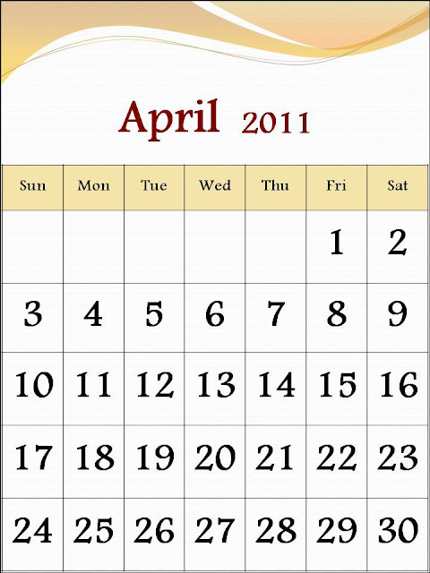 free april 2011 calendar template. 2011 calendar   free printable