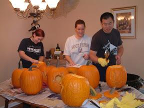 Pre-wedding: Pumpkin carving