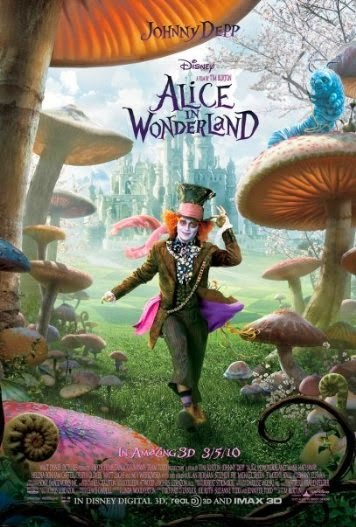 Poster Of English Movie Alice in Wonderland (2010) Free Download Full New Hollywood Movie Watch Online At alldownloads4u.com