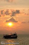 Thaifun boat at sunset