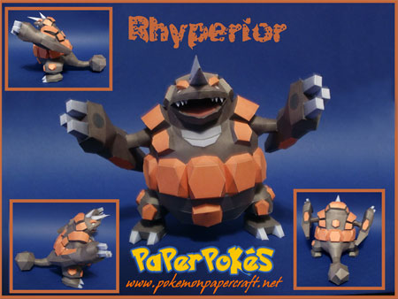 Pokemon Rhyperior Papercraft