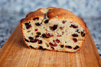 Cranberry Raisin Almond Banana Bread | Beantown Baker