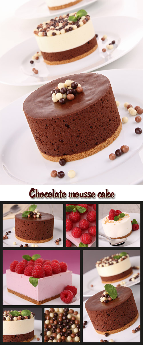 Stock Photo: Chocolate mousse cake