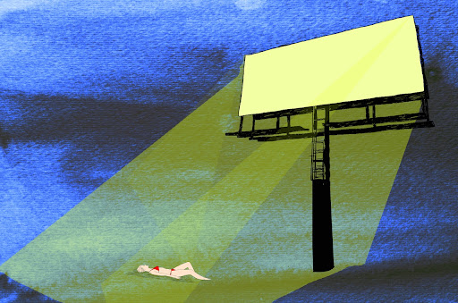 Billboard Bathing by Robby Campbell
