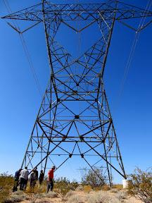 Powerline northeast of Lone Mesa