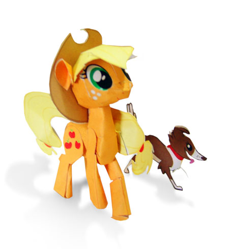 My Little Pony Papercraft Applejack