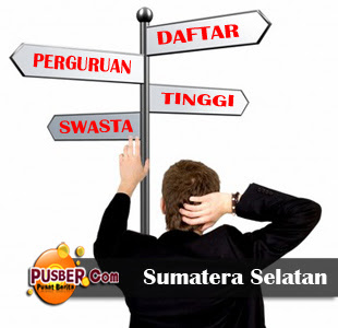 Daftar Perguruan Tinggi Swasta (PTS) di Sumatera Selatan