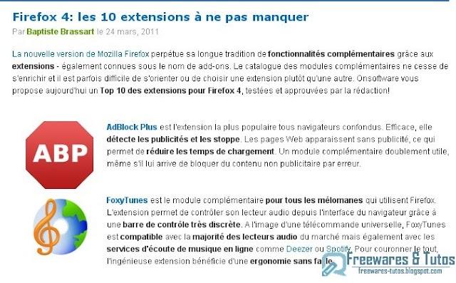 Firefox 4: les 10 extensions à ne pas manquer