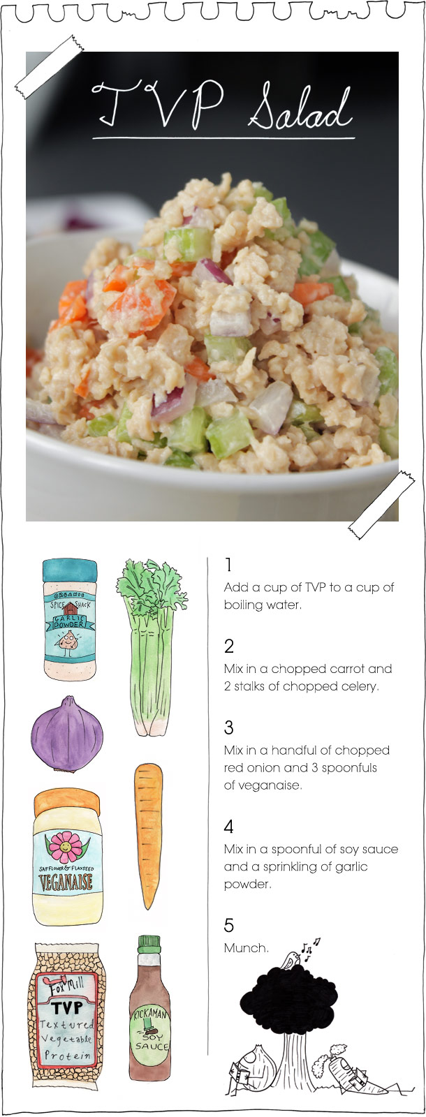 The Vegan Stoner's TVP Salad