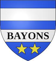 Esparron la Bâtie est un hameau sur la commune de Bayons dont on voit le blason
