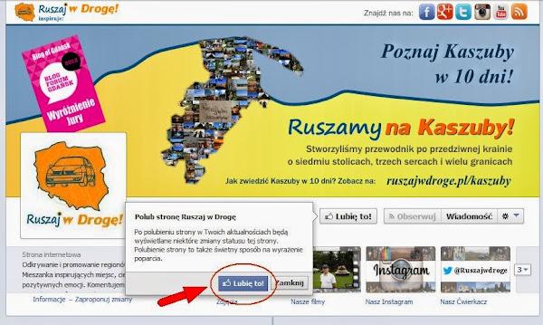 Ruszaj w Drogę na Facebooku - Lubię to!