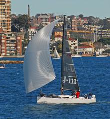 J/111 sailboat- sailing Sydney Harbour, Australia