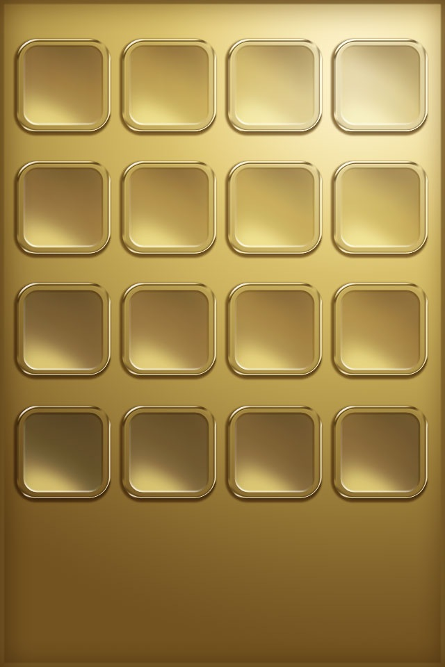 iPhone4 Desktop Wallpapers Shelf Gold Tone