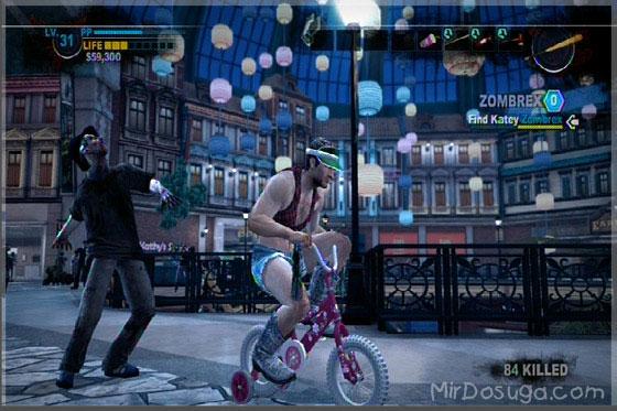 Chuck на велосипеде из Dead Rising 2