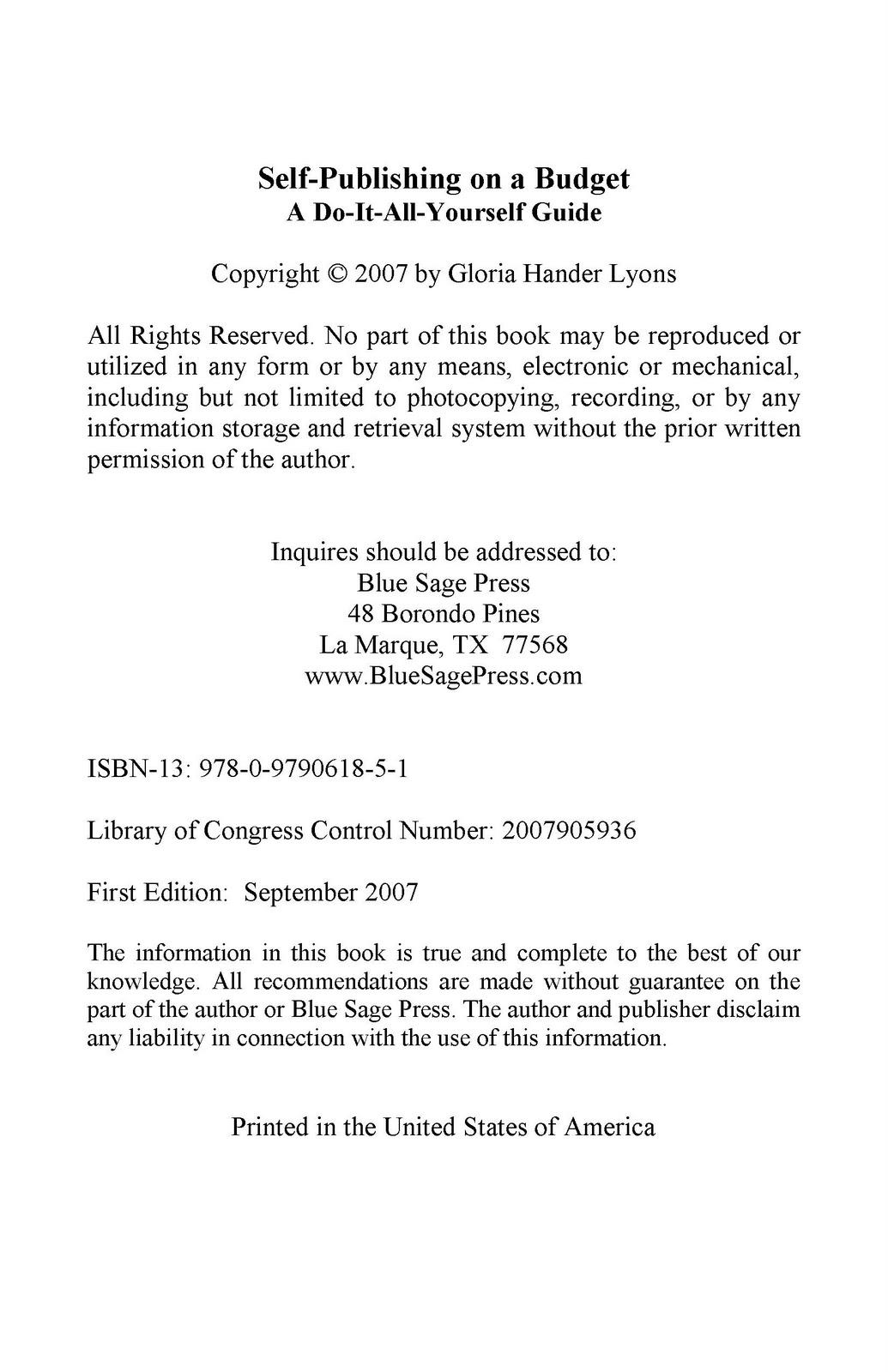 Comfortable Copyright Template For Book Photos - Example Resume ...