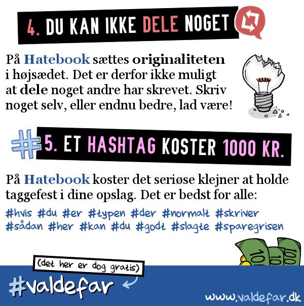 STRIBE FRA METROXPRESS: Valdefars perfekte sociale medie: Hatebook