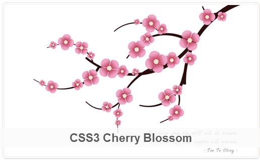 Hoa anh đào HTML5 CSS3