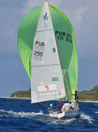 J/80 one-design sailboat- sailing off St Croiz, USVI