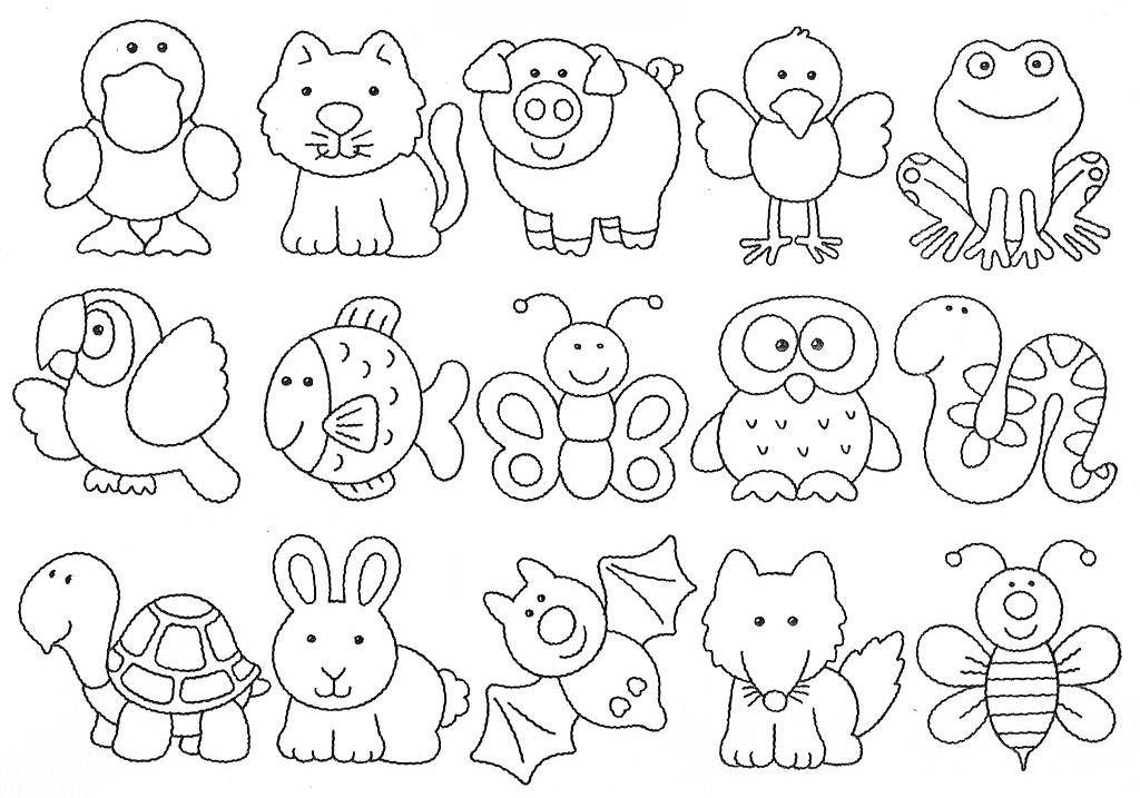 Dieren G Kleurplaat Moldes Y Figuras De Sucha Foami Animalitos