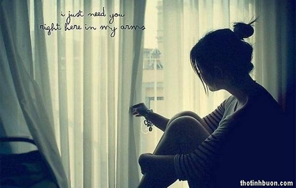 Thơ đêm nhớ Anh, thơ mình em cô đơn trong căn phòng buồn hiu