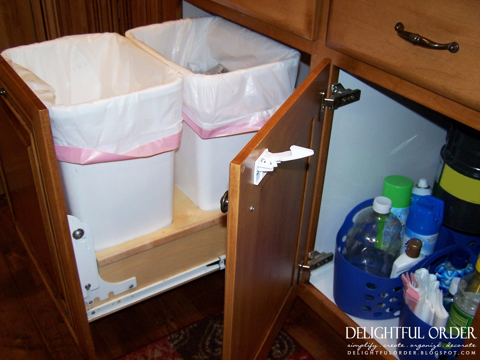 Delightful Order Organizing Under The Kitchen Sink