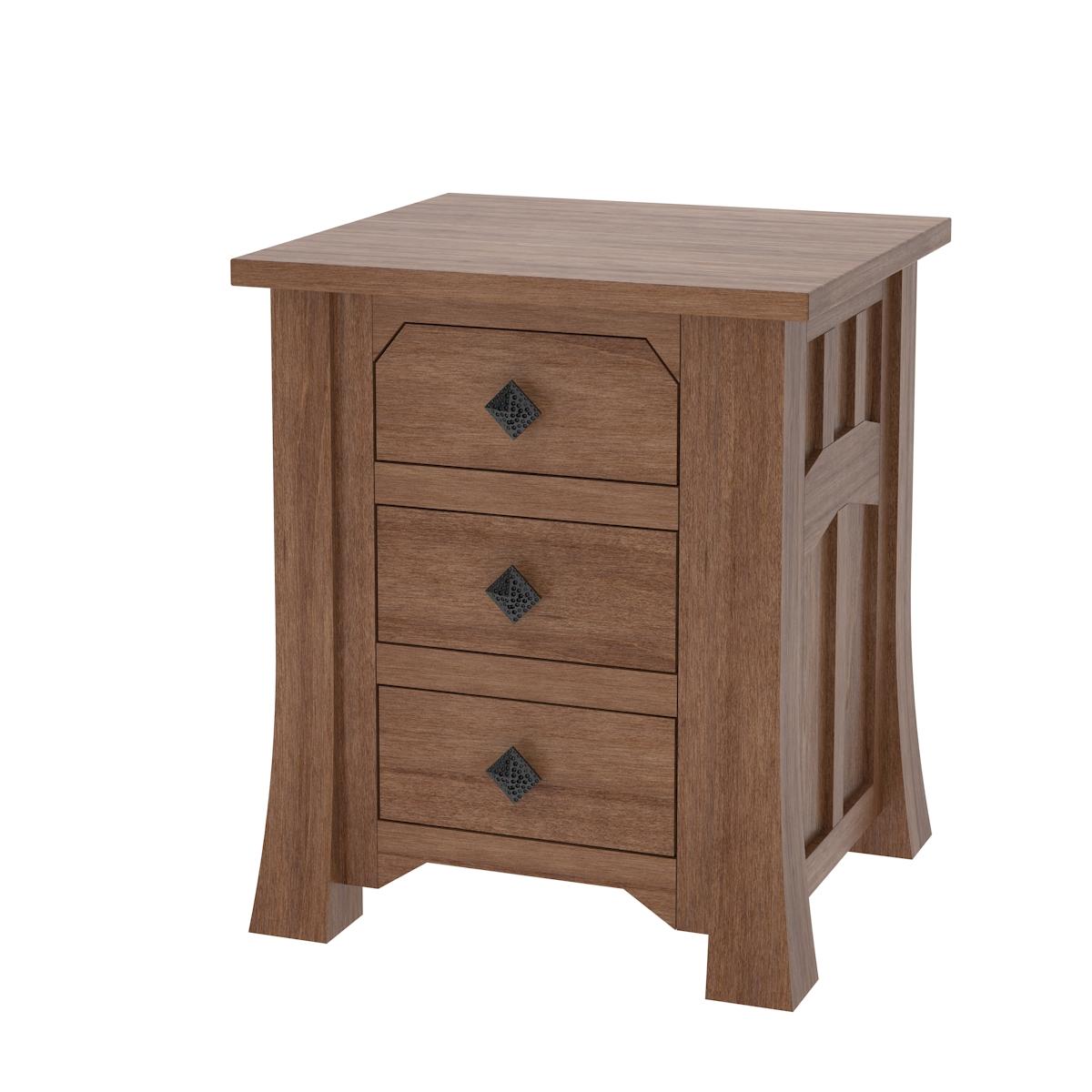Edmonton Nightstand With Drawers Solid Wood Nightstand