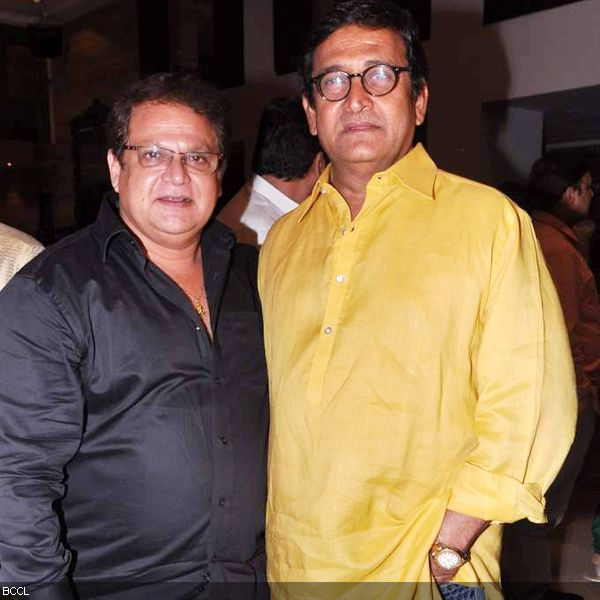 Renowned Marathi filmmakers, Mahesh Kothare and Mahesh Manjrekar pose together during the press meet of MIFTA Awards, held in Mumbai, on May 27, 2013. (Pic: Viral Bhayani)