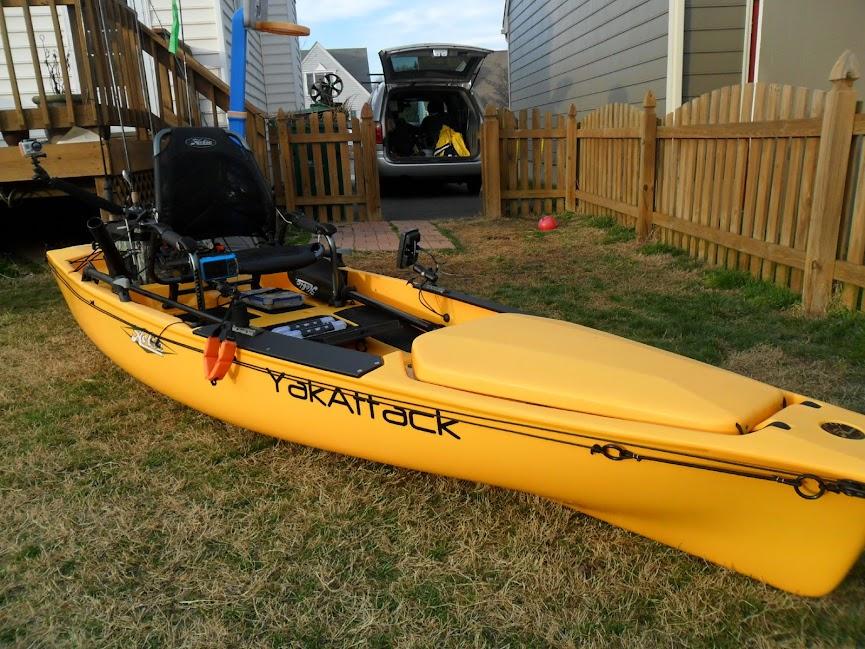 Your fishing kayak setups pics bass boats canoes for Cabelas fishing kayak