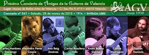 Concierto de Alumnos de Guitarra del CSMV, en Amigos de la Guitarra de Valencia