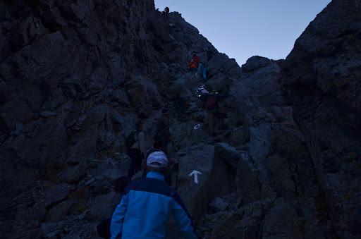 槍ヶ岳の岩場