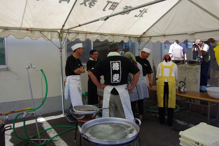 北竜町蕎麦食楽部皆さんの手作り蕎麦