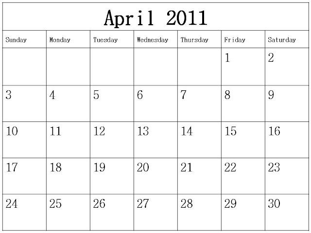 blank calendar 2011 may. Blank+calendar+april+2011