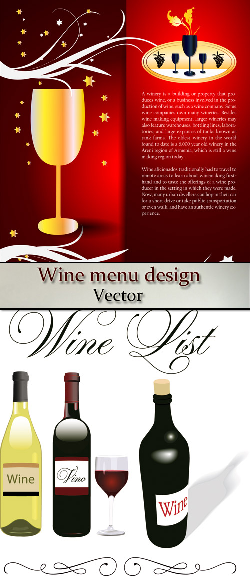 Stock: Wine menu design