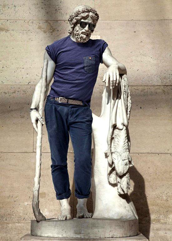 Obras maestras de la escultura con look hipster 2