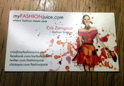 Fashion Business Cards, Blogger Business Cards, Business Card Style