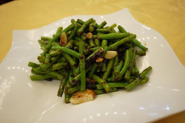 Green beans in a fermented bean sauce in Guangzhou, China