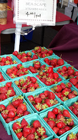 Some of the offerings at the Hollywood Farmers market on Saturdays - Sea Scape Strawberries