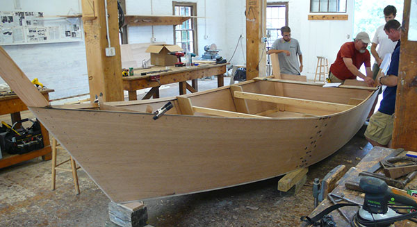 Wooden Skiff Boat 16 foot skiff designed by