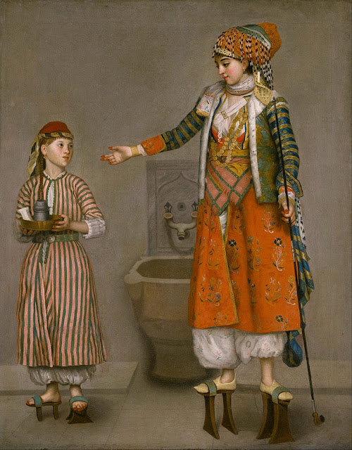 Jean-Etienne Liotard - A Frankish Woman and Her Servant - Google Art Project