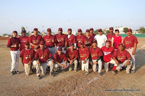 Equipo Maypa Trucking del torneo sabatino de softbol