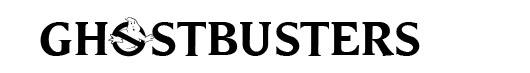 Ghostbusters logo font Caça Fantasmas