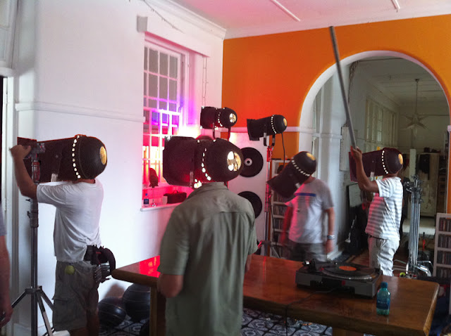 cape town, south africa, video production, lamps